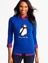Talbots Tinsel Penguin Sweater