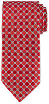 Eton Octagon-Print Silk Tie, Burgundy
