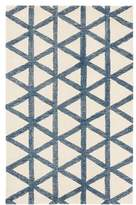 Pottery Barn Teen Tam Triangle Rug, 8x10, White/Navy
