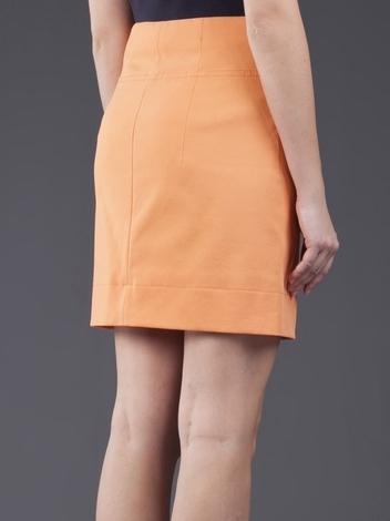 Carven Stretch Gaberdine Zip Skirt