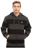 U.S. Polo Assn. Rugby Stripe Fleece Hoodie