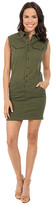 G Star G-Star Rovic Slim Sleeveless Dress in Trone Superstretch Twill