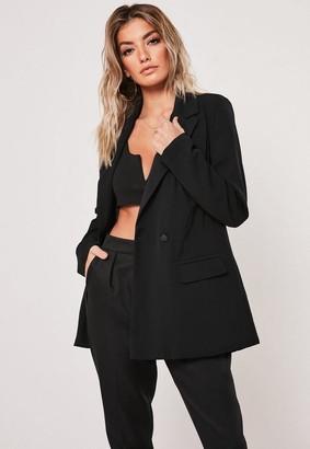 Missguided Petite Black Long Oversized Blazer