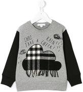 Burberry rain check print sweatshirt