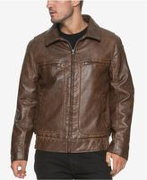 Andrew Marc Big and Tall Amherst Faux-Leather Aviator Jacket