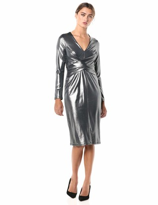 Tommy Hilfiger Women's Foil Knit Fit and Flare Dress