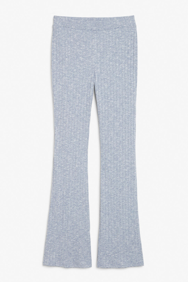 Thumbnail for your product : Monki Flare leg ribbed trousers
