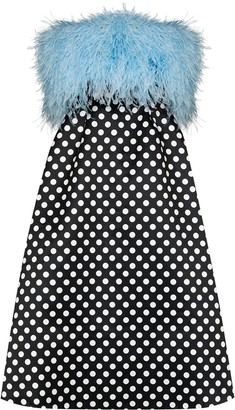 Richard Quinn Feather Bodice Polka Dot Dress