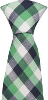 Notch Men's Cotton Necktie - NEYMAR - Checkered pattern in