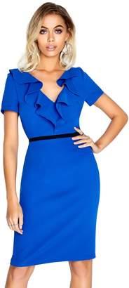 Paper Dolls Outlet Blue Ruffle Dress
