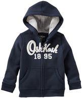 Osh Kosh Toddler Boy Fleece Logo Applique Zip-Up Hoodie