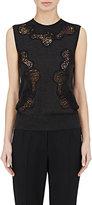 Dolce & Gabbana Women's Lace-Inset Cashmere-Silk Sleeveless Sweater-DARK GREY