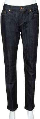 Roberto Cavalli Indigo Dark Wash Denim Tapered Jeans M