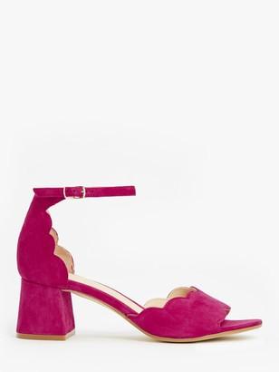 John Lewis & Partners Chloe Scalloped Block Heel Sandals