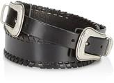 Rebecca Minkoff Double Buckle Whipstitch Belt