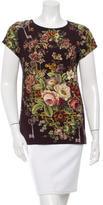 Dolce & Gabbana Secret Garden Print Top