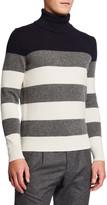 Moncler Men's Striped Turtleneck Sweater