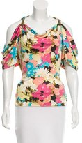Yigal Azrouel Silk Printed Top
