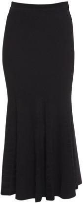 Alexander McQueen Viscose Blend Knit Midi Skirt