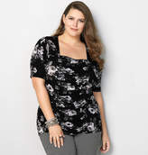 Avenue Ruched Floral Top