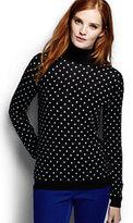 Classic Women's Supima Jacquard Turtleneck Sweater-Dark Red Heather