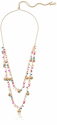 "lonna & lilly Women's Gold/Multi 38"" Slider 2 Row Frontal Necklace"