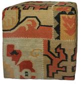 nuLoom Boho Ethnic Wool Pouf