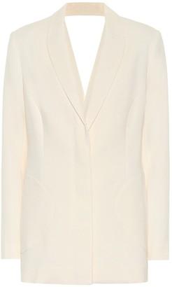 Jonathan Simkhai Cut-out crepe blazer