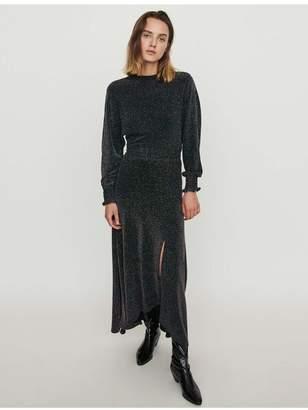Maje Stretch Scarf Dress In Lurex