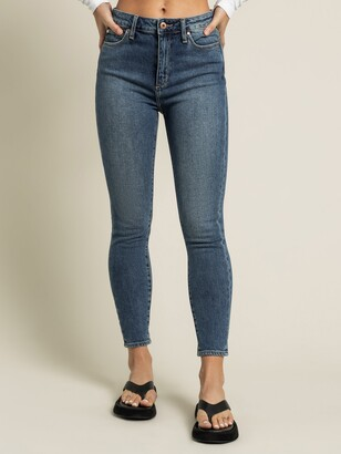 Articles of Society High Rise Lisa Ankle Hug Jeans in Mid True Blue