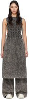 S.R. Studio. La. Ca. S.R. STUDIO. LA. CA. Black Checkered Pleats Mineral Wash Bib Dress