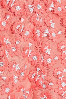 Lela Rose Embroidered Tulle Dress