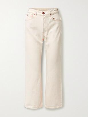 rag & bone - Net Sustain Maya Cropped Organic High-rise Straight-leg Jeans - Ecru