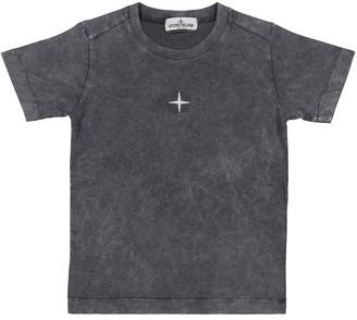 Stone Island Junior Logo cotton T-shirt