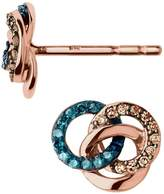 Links of London Rose Gold and Diamond Treasure Earrings