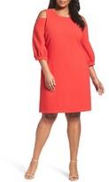 Eliza J Plus Size Women's Cold Shoulder Shift Dress