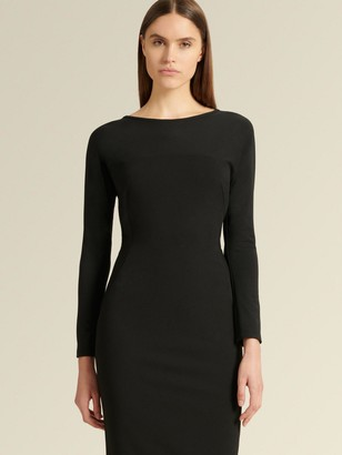 DKNY Donna Karan Women's Long Sleeve Boat Neck Dress - Black - Size XX-Small