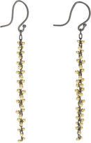 Ten Thousand Things Gold & Silver Beaded Cluster Long Earrings