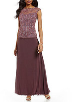 Pisarro Nights Sequin Mock Two Piece Gown
