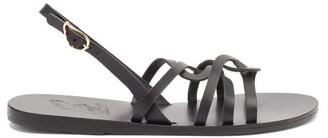 Ancient Greek Sandals Schinousa Leather Slingback Sandals - Black
