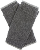 Johnstons Ladies Black Contrast Luxury Tipped Cashmere Wristwarmers
