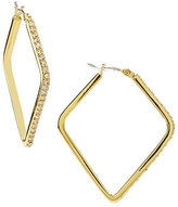 Lauren Ralph Lauren Triangle Pave Hoop Earrings