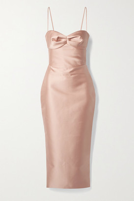 Rasario Duchesse-satin Midi Dress - Blush