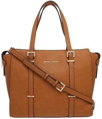 Wayne Cooper Ebony Double Handle Tote Bag