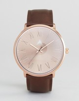 Asos Watch With Faux Leather Strap & Rose Gold Face