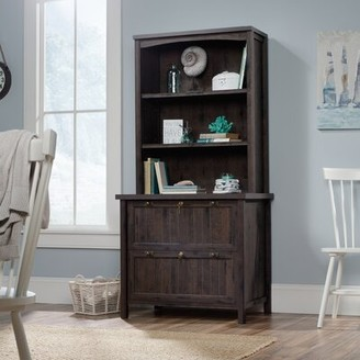 Laurel Foundry Modern Farmhouse Shelby 2 Drawer Lateral Filing Cabinet With Hutch Color: Coffee Oak