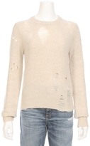 Raquel Allegra Fitted Distressed Cashmere Sweater
