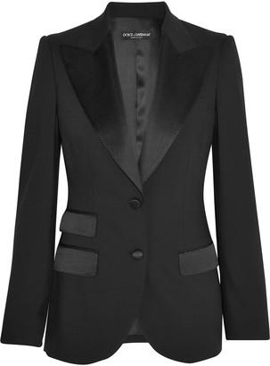 Dolce & Gabbana Satin-trimmed Wool-blend Twill Blazer