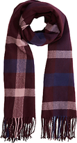 Warehouse Check Scarf, Berry