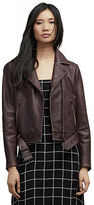 Kenneth Cole Tough Girl Belted Leather Jacket